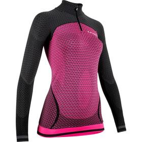 UYN Running Alpha OW LS Zip Up Shirt Women racy pink/charcoal